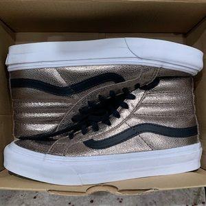 Vans Metallic Leather Sk8-Hi Slim